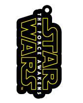 Star Wars Episode VII Rubber Keychain Logo 6 cm