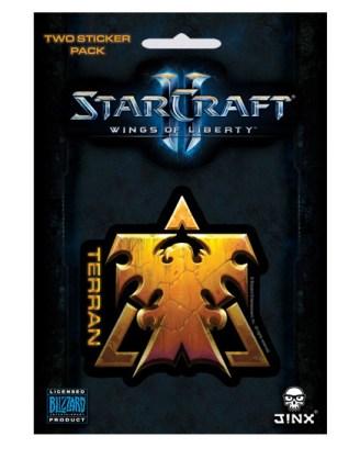 StarCraft II Sticker 2-Pack Terran Wings Of Liberty
