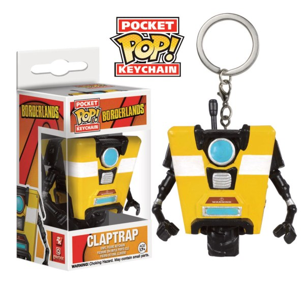 Borderlands Pocket POP! Vinyl Keychain Claptrap 4 cm