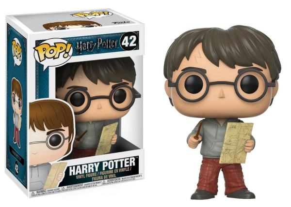 x_fk14936 Harry Potter POP! Movies Vinyl Figure Harry Potter with Marauders Map 9 cm