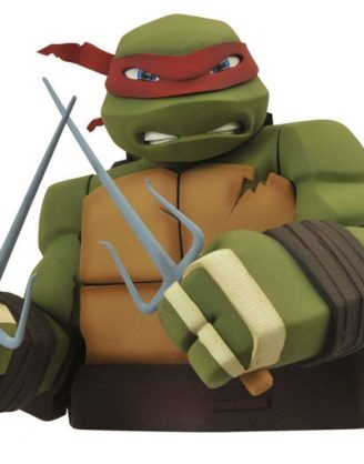 x_diamapr141975 Teenage Mutant Ninja Turtles Bust Bank Raphael 20 cm