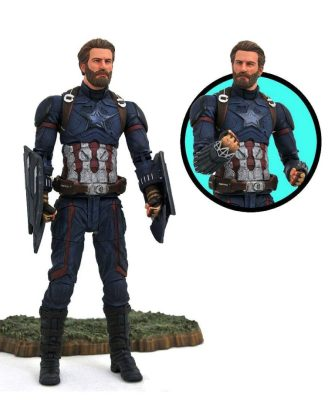 x_diamapr182168 Marvel Select Akciófigura - Avengers Infinity War Captain America 18 cm