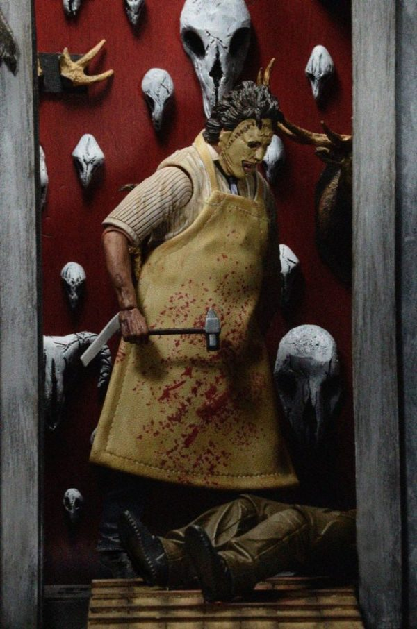 x_neca39748 Texas Chainsaw Massacre Retro Action Figure 40th Anniversary Ultimate Leatherface 18 cm