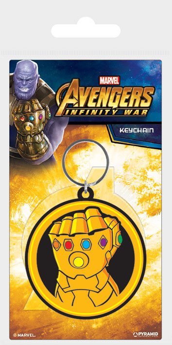 x_rk38798c Avengers Infinity War Rubber Keychain Infinity Gauntlet 6 cm