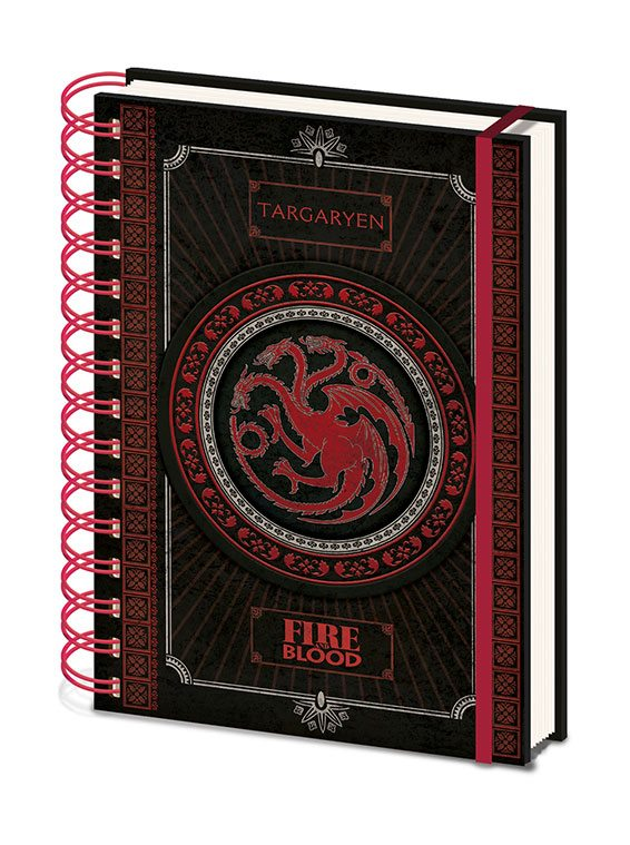 x_sr72502 Game of Thrones Wiro Notebook A5 Targaryen