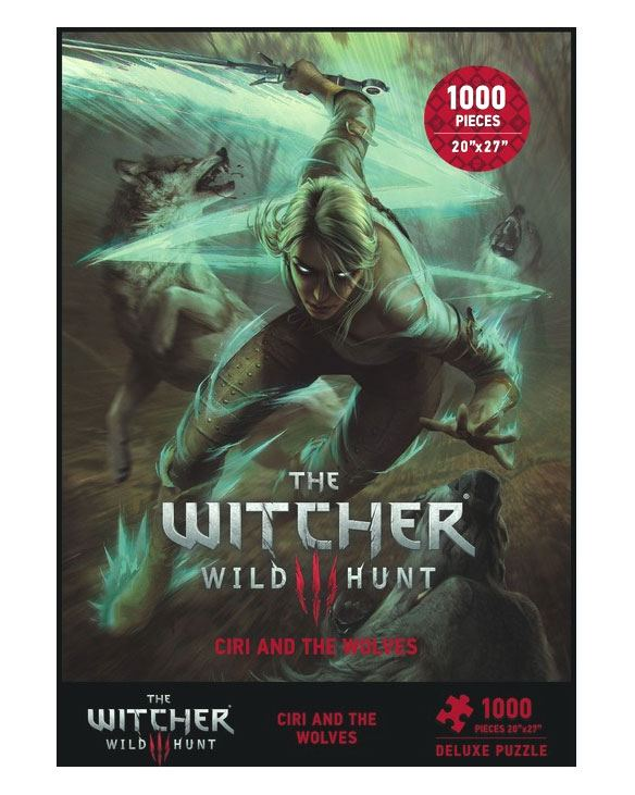x_daho3003-770 Witcher 3 Wild Hunt Puzzle - Ciri and the Wolves 1000 db-os
