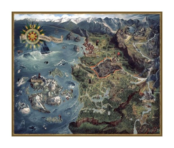 x_daho3003-990 Witcher 3 Wild Hunt Puzzle - Northern Realms Map 1000 db-os