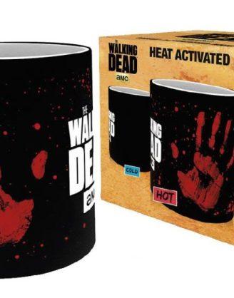 x_gye-mgh0020 Walking Dead hőre változós bögre - Hand Print
