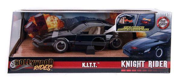 x_jada30086 Knight Rider Diecast Model - 1/24 1982 Pontiac Firebird Knightrider KITT with Light-Up Function