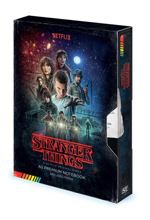 x_sr72775 Stranger Things Premium A5 Jegyzetfüzet VHS