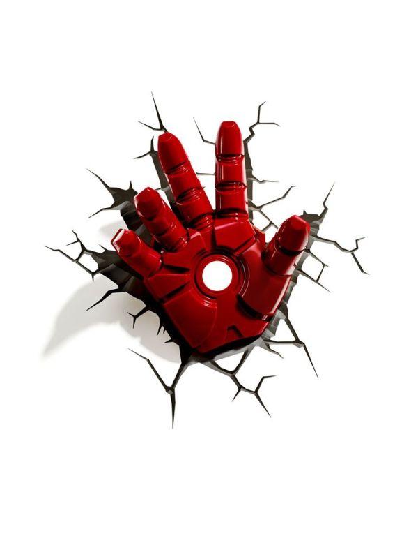 x_3dl75195 Marvel Comics 3D LED világítás - Iron Man Karja