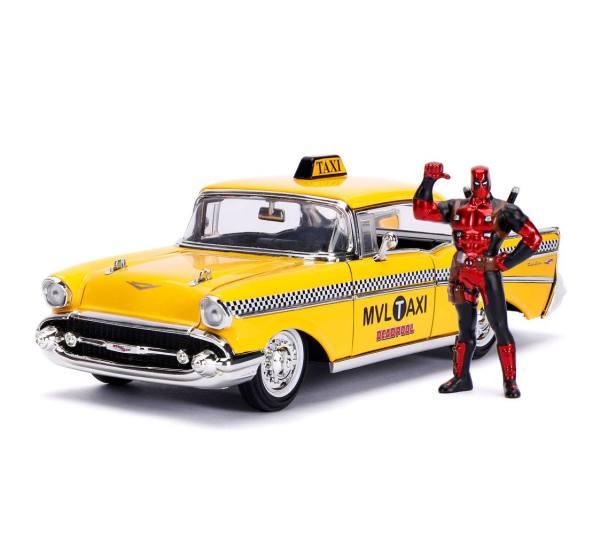 x_jada30290 Deadpool Diecast Model - 1/24 Deadpool Yellow Taxi