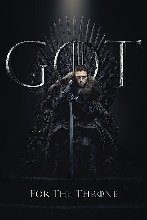 x_pp34491 Game of Thrones poszter - Jon for the Throne 61 x 91 cm
