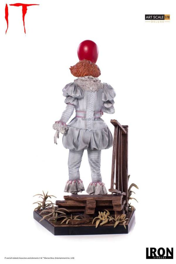 x_is77356 Stephen King's It 2017 Deluxe Art Scale Szobor - 1/10 Pennywise 25 cm