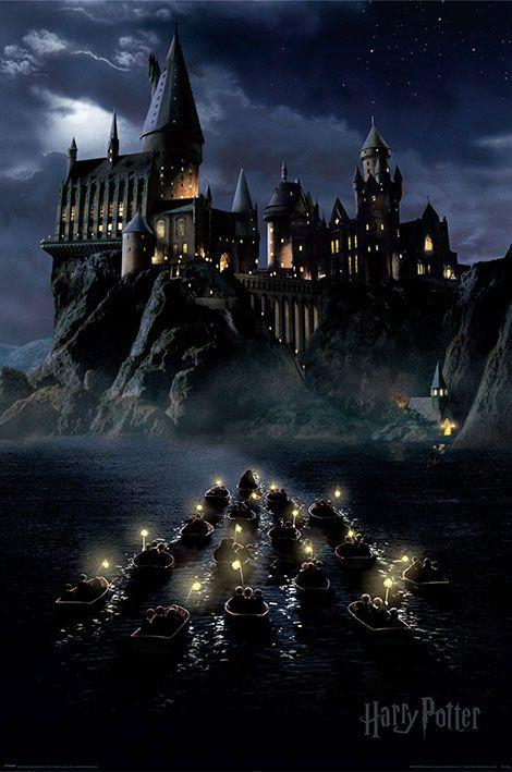 x_pp34340 Harry Potter poszter - Hogwarts Boats 61 x 91 cm