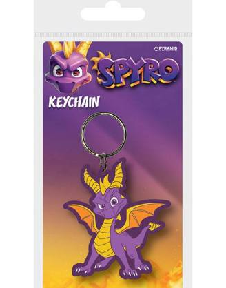 x_rk38866c Spyro the Dragon - Dragon Stance 6 cm gumi kulcstartó Spyro the Dragon Rubber Keychain Dragon Stance 6 cm