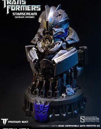x_p1s902279 Prime1 Transformers Age of Extinction Bust - Starscream Scream Version 16 cm