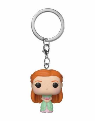 x_fk42258 Harry Potter Funko Pocket POP! kulcstartó - Ginny (Yule) méret ~ 4 cm