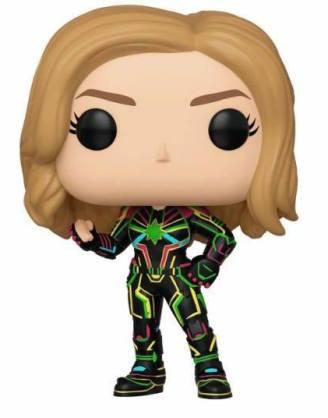 x_fk43964 Captain Marvel w/Neon Suit 9 cm