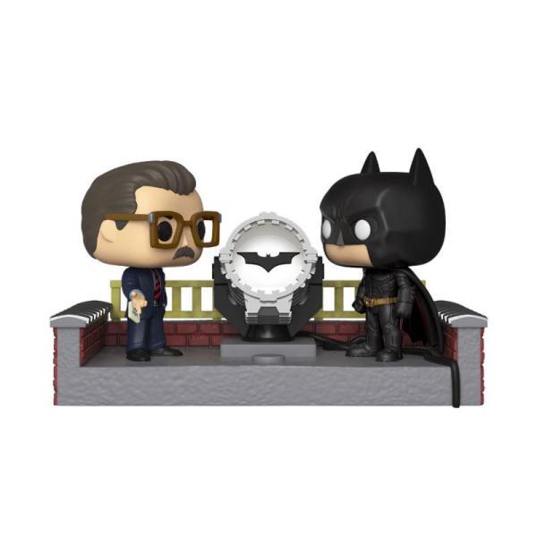 x_fk37258 Batman's 80th Funko POP! Movie Moment figura - Batman with Light Up Bat Signal 9 cm