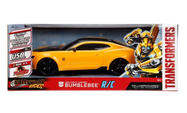 x_jada30332 Transformers The Last Knight RC Car 1/16 - 2016 Chevy Camaro Bumblebee