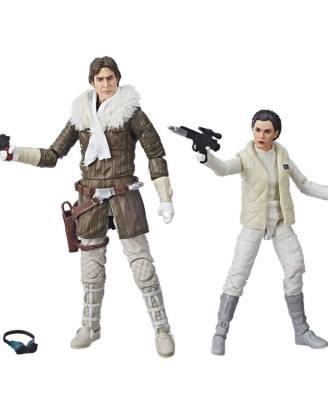 Star Wars Episode V Black Series Akciófigura 2018 - Leia & Han (Hoth) Convention Exclusive 15 cm