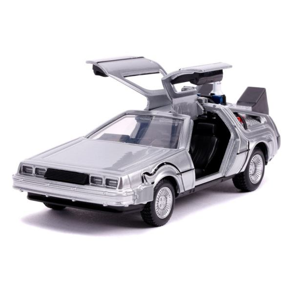 x_jada30541 Back to the Future II Hollywood Rides Diecast Model 1/32 - DeLorean Time Machine