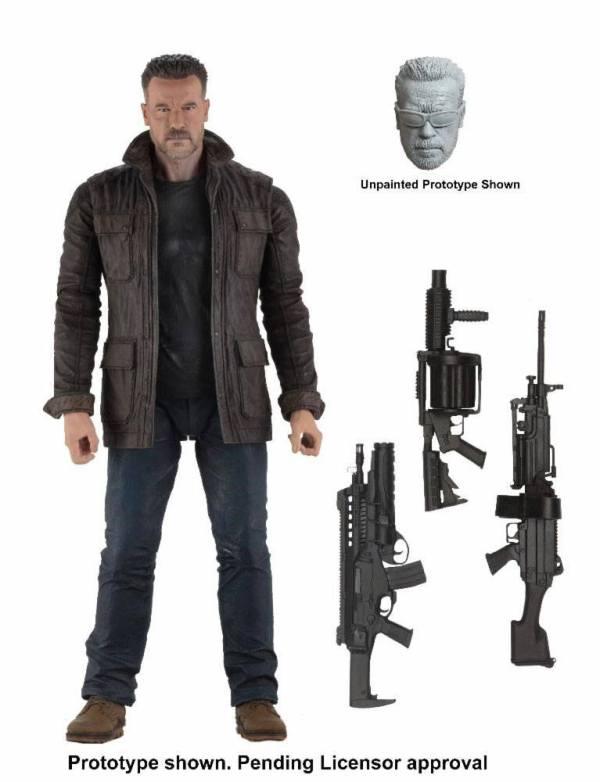 Terminator: Dark Fate akciófigura - T-800 18 cm