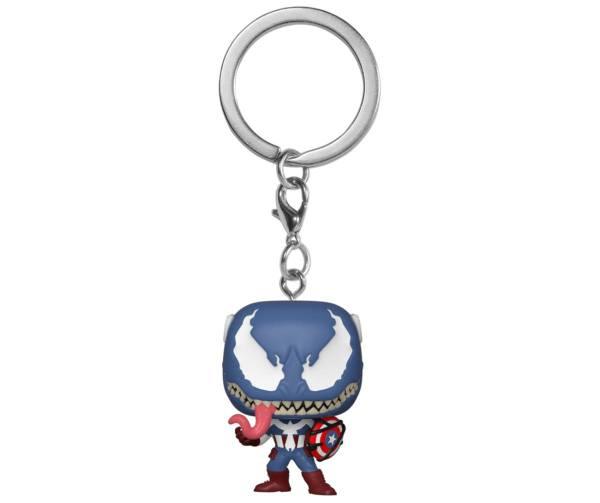 Marvel Venom Pocket POP! Vinyl Keychain Captain America 4 cm
