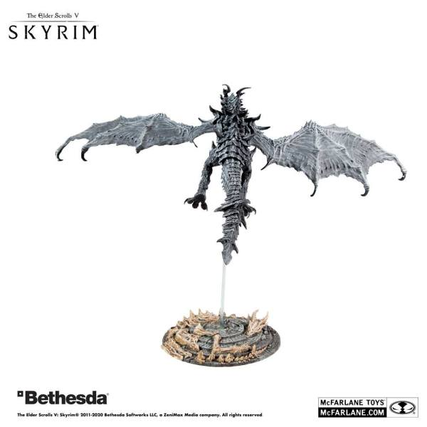 x_mcf11118-7 The Elder Scrolls V: Skyrim Deluxe Akciófigura - Alduin 23 cm