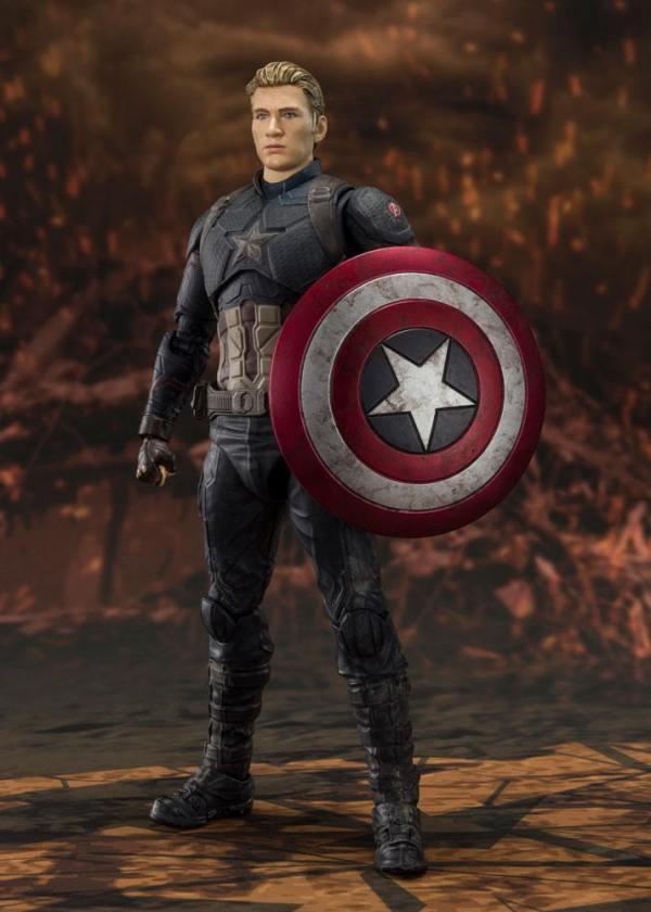 x_btn58731-2 Avengers: Endgame S.H. Figuarts Akciófigura - Captain America (Final Battle) 15 cm
