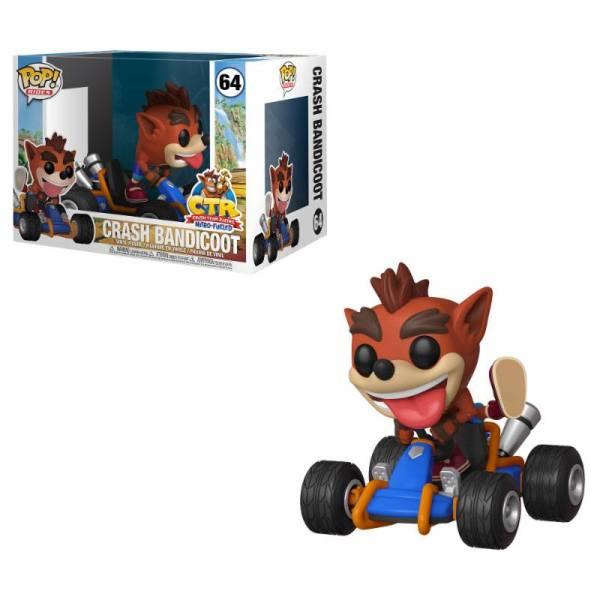 Crash Team Racing Funko POP! Rides Figura - Crash Bandicoot 15 cm