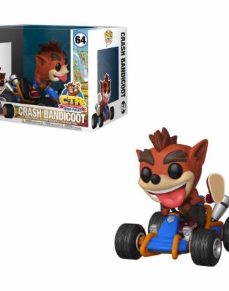 Crash Team Racing Funko POP! Rides Figura - Crash Bandicoot 15 cm