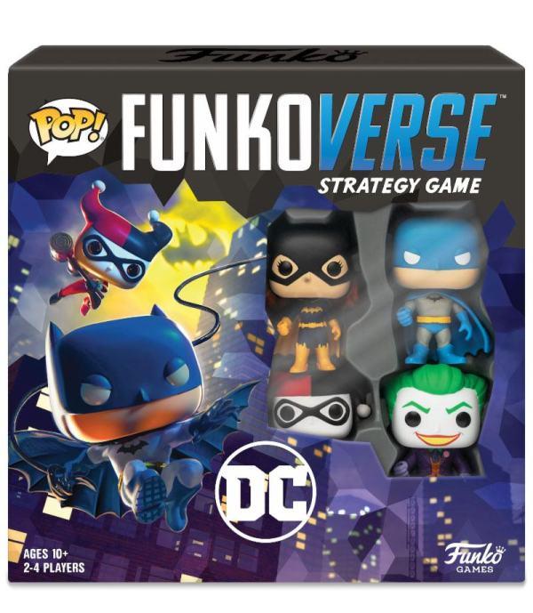 x_fk42628 DC Comics Funkoverse társasjáték 4 Character Base Set *English Version*