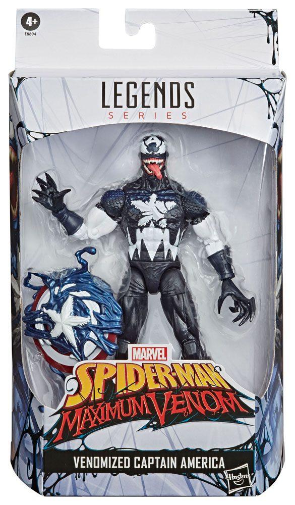 x_hase8894 Spider-Man: Maximum Venom Marvel Legends Akciófigura 2020 - Venomized Captain America 15 cm