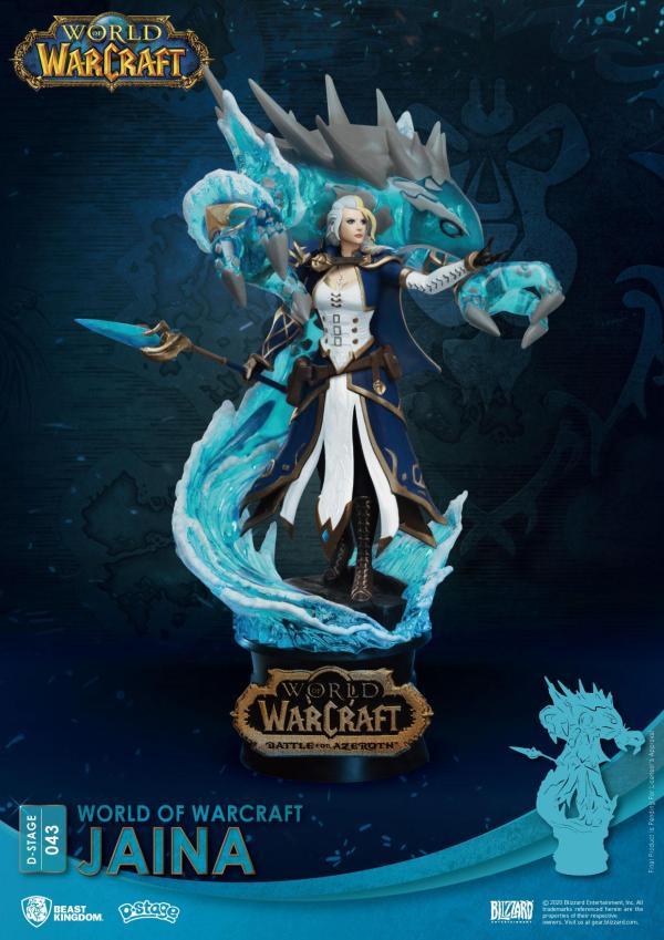 x_bkdds-043 World Of Warcraft D-Stage PVC Diorama Jaina 16 cm