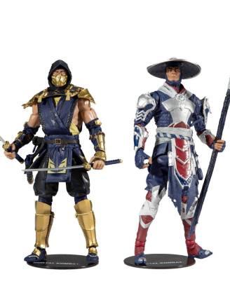 Mortal Kombat Akciófigura 2-Pack - Scorpion & Raiden 18 cm