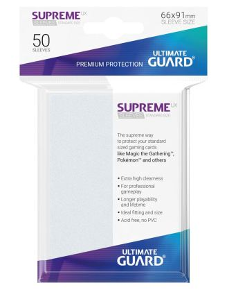 Ultimate Guard Supreme UX Sleeves Standard Size Frosted (50)