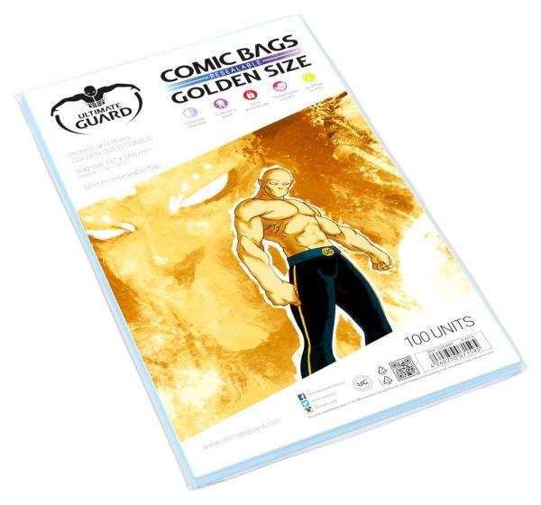 x_ugd020001 Ultimate Guard Comic Bags Resealable Golden Size (100)