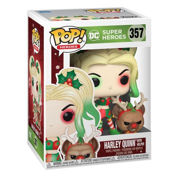 x_fk50656 x_fk50656 vDC Comics Funko POP! Figura - DC Holiday: Harley Quinn with Helper 9 cm