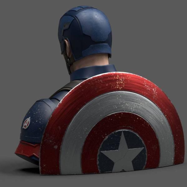 x_bbsm015 Avengers Endgame Coin Bank / Persely - Captain America 20 cm