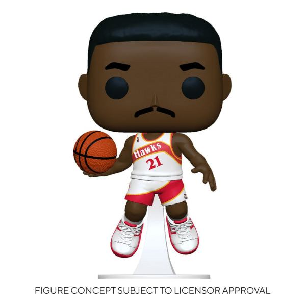 NBA Legends POP! Sports Vinyl Figure Dominique Wilkins (Hawks Home) 9 cm - fk55217