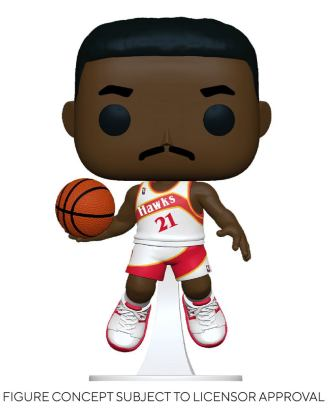 NBA Legends POP! Sports Vinyl Figure Dominique Wilkins (Hawks Home) 9 cm - fk55217