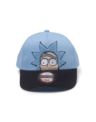 Rick & Morty - Rick Chenille 2D Embroidery Curved Bill Baseball sapka