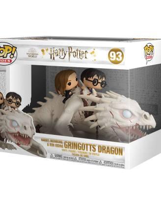 Harry Potter POP! Rides Vinyl Figure Dragon w/Harry, Ron, & Hermione 15 cm_fk50815