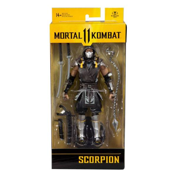 x_mcf11038-8 Mortal Kombat Akciófigura - Scorpion (The Shadow Skin) 18 cm