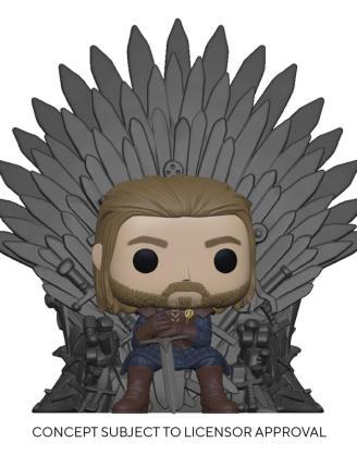 Game of Thrones POP! Deluxe Vinyl Figure Ned Stark on Throne 9 cm_fk56791