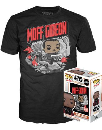 Star Wars The Mandalorian Funko POP! & Tee Box Moff Gideon