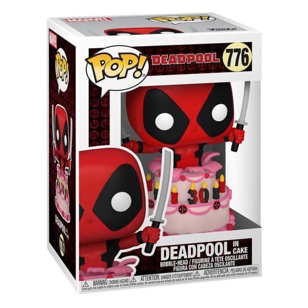 x_fk54654 x_fk54654 Marvel Deadpool 30th Anniversary Funko POP! Vinyl Figura - Deadpool in Cake 9 cm