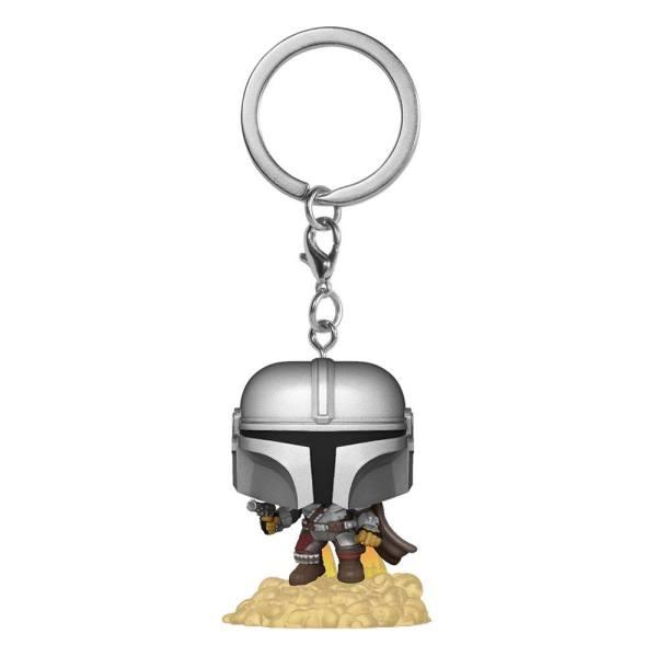 Star Wars The Mandalorian Pocket POP! Kulcstartó - The Mandalorian w/ Jet Pack 4 cm